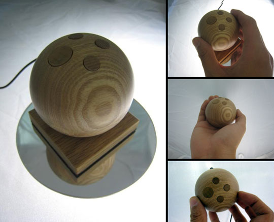 jupiter mouse maus Wooden Mouse Orb