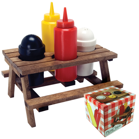 picnictablecondiments Mini Picnic Table Condiment Holder