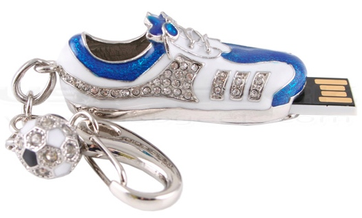 jewelsoccerbootusbdrive3 Jeweled Soccer Cleat USB Drive