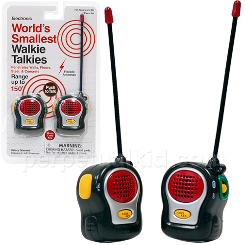 smallest walkies Worlds Smallest Walkie Talkies