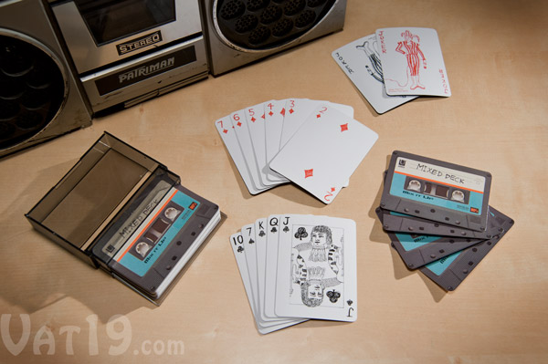cassette tape cards Cassette Tape Playing Cards