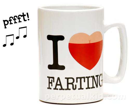 i heart farting I Heart Farting Musical Mug