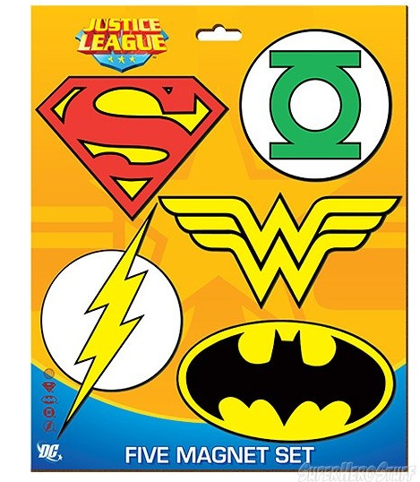 dc comics magnets DC Comics Justice League Symbols Magnet Set