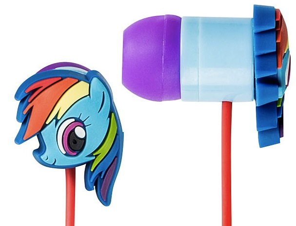 rainbow dash earbuds My Little Pony Rainbow Dash Earbuds