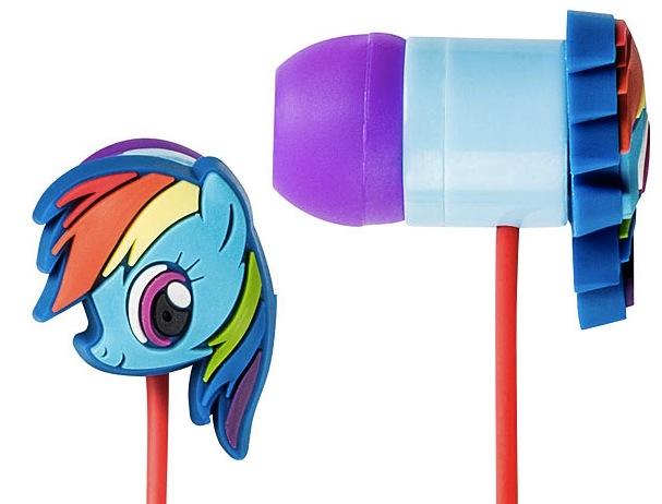 rainbow dash earbuds My Little Pony Rainbow Dash Earbuds
