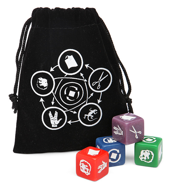 rock paper scissors lizard spock dice Rock Paper Scissors Lizard Spock Dice Set