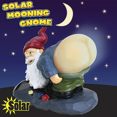 solar mooning gnome Solar Powered Mooning Gnome